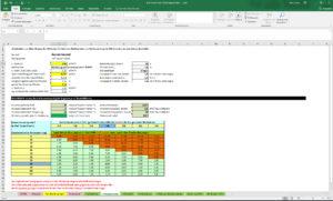 Screenshot des Excel-Rechners vom BBSR