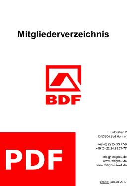 Das Mitgleiderverzeichnis des BDF für 2017