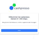 Erster Schritt Antragstellung cashpresso Rahmenkredit