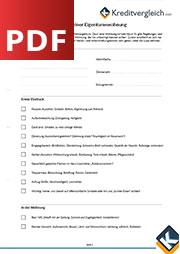 Checkliste Kauf Eigentumswohnung