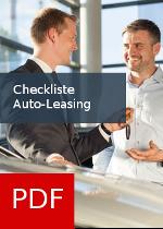 Checkliste zum Auto-Leasing als PDF