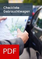 PDF Checkliste rund um den Gebrauchtwagenkauf