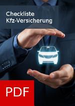PDF Checkliste zum Thema Kfz-Versicherung