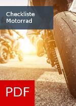 Checkliste für Motorradfahrer und Käufer