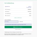 Zweiter Schritt Antragstellung CreditPlus Bank Beamtenkredit