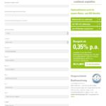Erster Schritt Antragstellung creditweb Policendarlehen