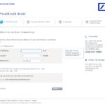 Erster Schritt Antragstellung Deutsche Bank Privatkredit