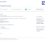 Vierter Schritt Antragstellung Deutsche Bank Privatkredit