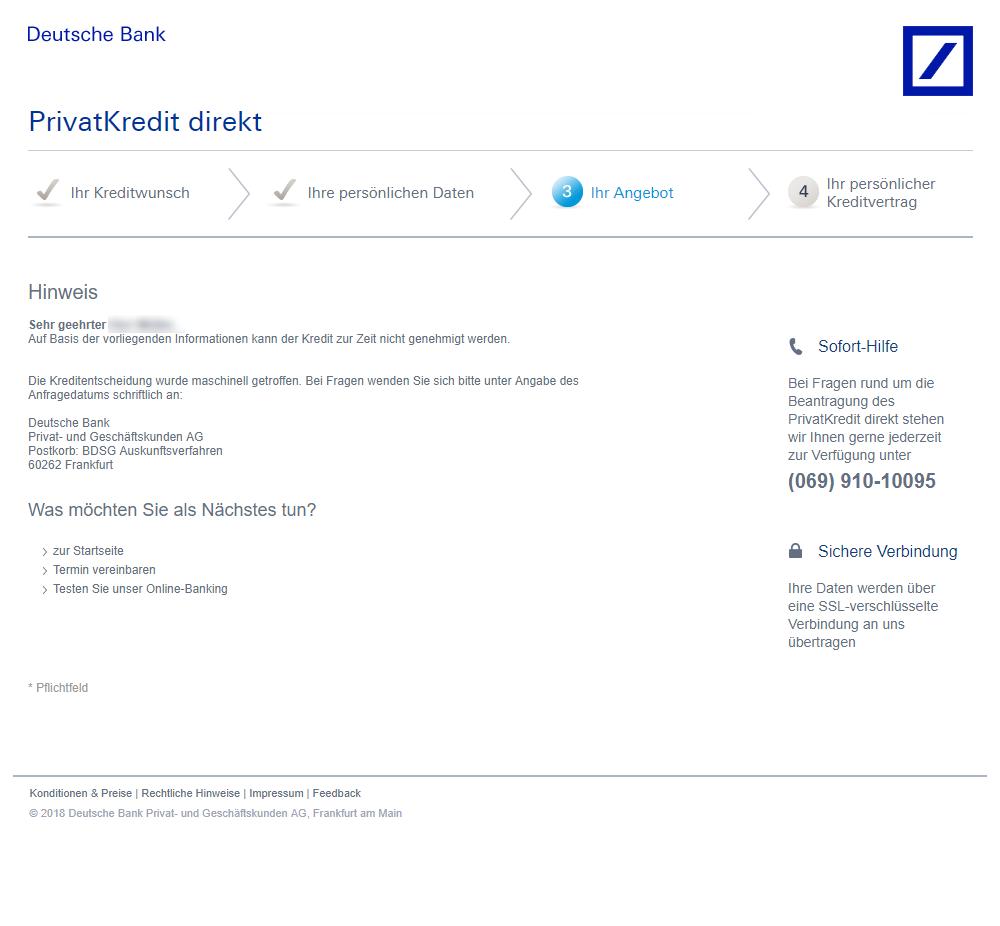 Deutsche Bank Privatkredit Test Und Erfahrungsberichte 072019