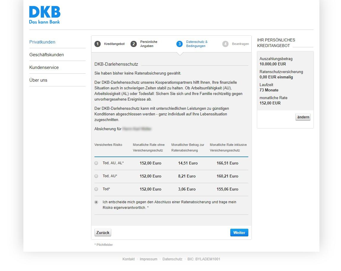 Bevorzugt DKB Privatdarlehen - Test 09/2019 und Erfahrungsberichte SO08