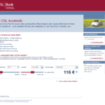 Erster Schritt Antragstellung DSL Bank Autokredit