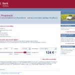 Erster Schritt Antragstellung DSL Bank Privatkredit