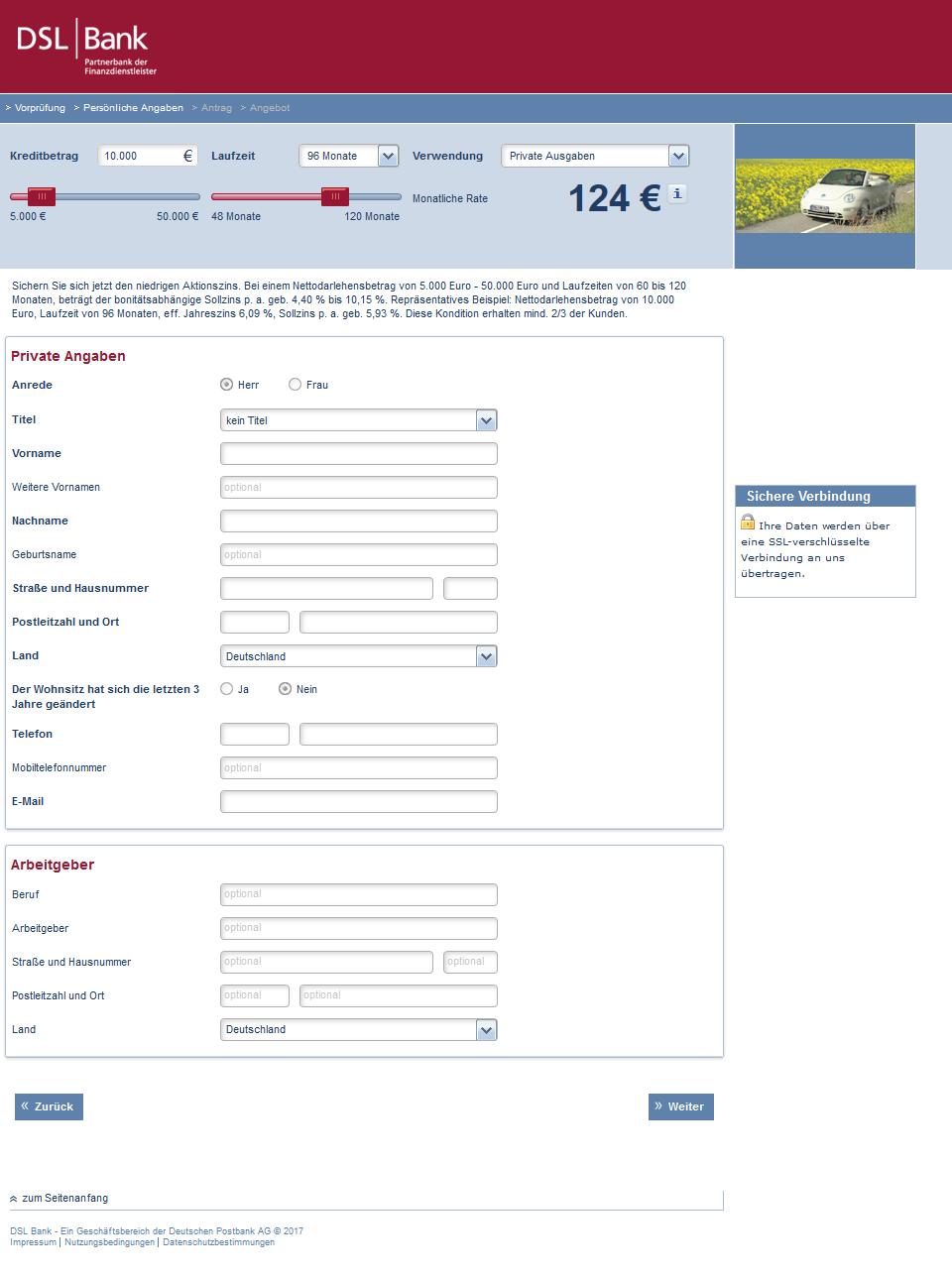 Dsl Bank Privatkredit Test Und Erfahrungsberichte 10 2020