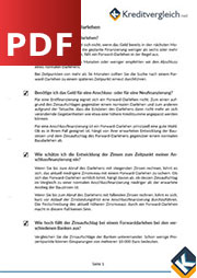 Checkliste für Forwarddarlehen als PDF zum kostenlosen Download
