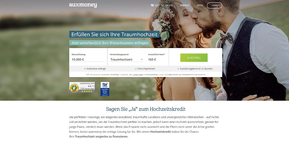 auxmoney Hochzeitskredit