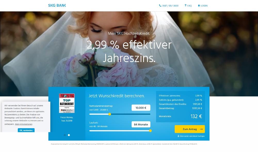 SKG Bank Hochzeitskredit