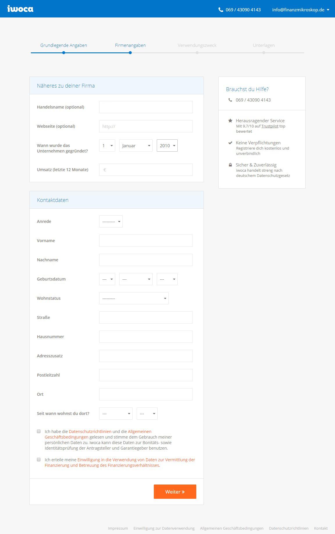 iwoca Kredit für Selbständige - Test und Erfahrungsberichte 08/2018