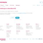 Erster Schritt Antragstellung Moneyou Privatkredit