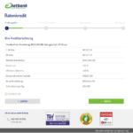 Zweiter Schritt Antragstellung netbank Kredit für Selbständige