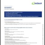 Elfter Schritt Antragstellung netbank Privatkredit