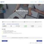 Erster Schritt Antragstellung OFINA Privatkredit
