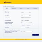 Erster Schritt Antragstellung Postbank Autokredit