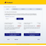 Vierter Schritt Antragstellung Postbank Privatkredit