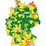 Fleckenkarte Deutschlands