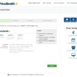 Zweiter Schritt Antragstellung Privatkredit.de Privatkredit