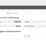 Dritter Schritt Antragstellung Santander Privatkredit