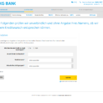 Zweiter Schritt Antragstellung SKG Bank Privatkredit