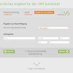 Drei Schritt Antragstellung SWK Bank Autokredit