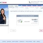 Elfter Schritt Antragstellung TARGOBANK Autokredit