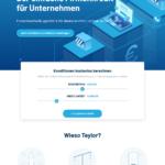 Erster Schritt Antragstellung Teylor Firmenkredit
