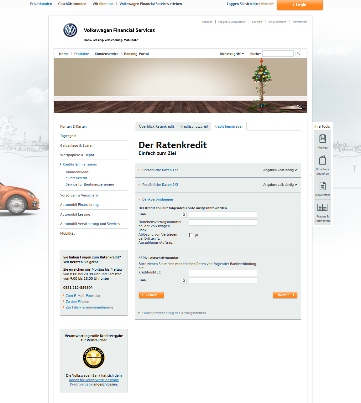 volkswagen bank ratenkredit test und erfahrungsberichte 10 2019. Black Bedroom Furniture Sets. Home Design Ideas